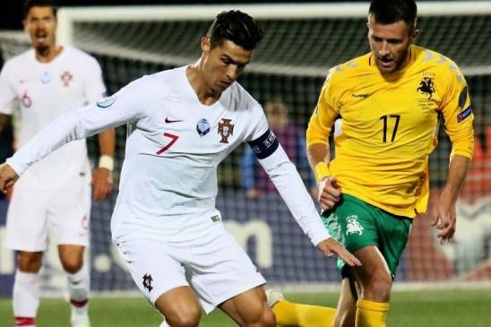 UEFA Euro Cup qualifier: पुर्तगाल ने लिथुआनिया को 5-1 से हराया, रोनाल्डो की इंटरनेशनल मैच में 8वीं हैट्रिक
