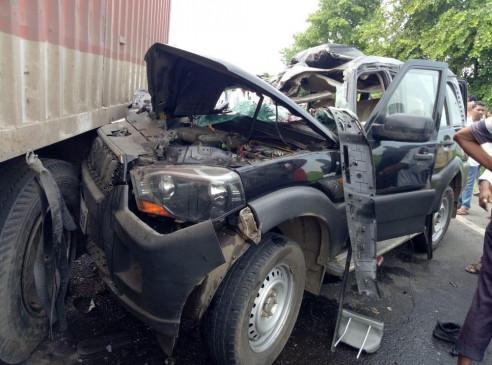 महाराष्ट्र: पूर्व केन्द्रीय मंत्री हंसराज अहीर के काफिले की गाड़ी का एक्सीडेंट, दो की मौत