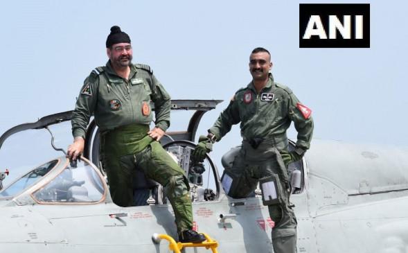 विंग कमांडर अभिनंदन ने IAF चीफ धनोआ के साथ मिग-21 में भरी उड़ान