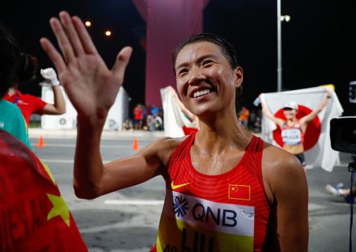 विश्व एथलेटिक्स चैम्पियनशिप : 20 किलोमीटर महिला वर्ग में तीनों पदक चीन ने अपने नाम किए