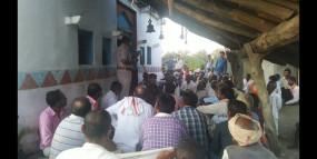 12 गाँवो के ग्रामीणों ने एकजुट होकर लिया नशा मुक्ति का फैसला