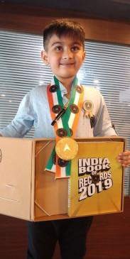 बालाघाट के 7 वर्षीय बालक अर्जुन का नाम इंडिया बुक ऑफ रिकॉर्ड में दर्ज