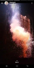 पूजा के वक्त बारिश की झमाझम, बारिश थमते ही पटाखों की धमाधम , धुएं से कोहरे का माहौल
