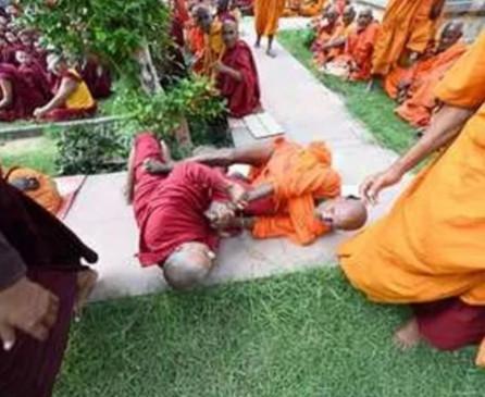 बिहार : महाबोधि मंदिर परिसर में 2 बौद्घ भिक्षु आपस में भिड़े