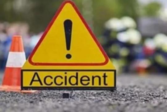 बस की टक्कर से बाइक सवार की मौत, अज्ञात वाहन ने एक को उड़ाया