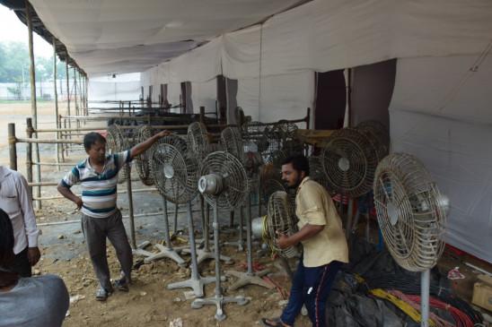 धूप से बचने मतदान केंद्रों पर मंडप बनाने भाजपा की मांग