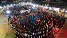 चांदनी रात में भक्ति के आनंद में डूबा शहर - भास्कर गरबा महोत्सव का शुभारंभ,