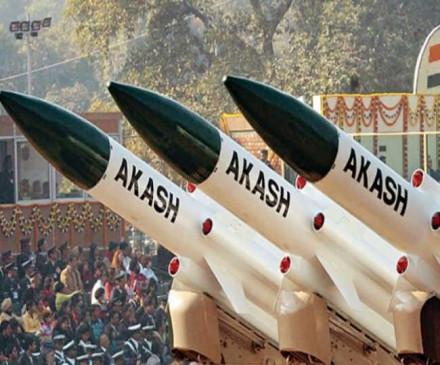 चीन और पाकिस्तान की सीमा पर आकाश मिसाइल से निगरानी करेगा भारत