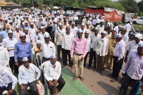 निवृत्त कर्मचारी संगठन ने 9 हजार पेंशन व मांगा महंगाई भत्ता, दिया धरना