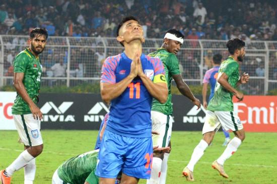 फीफा विश्व कप क्वालीफायर : भारत व बांग्लादेश का मैच 1-1 से ड्रा