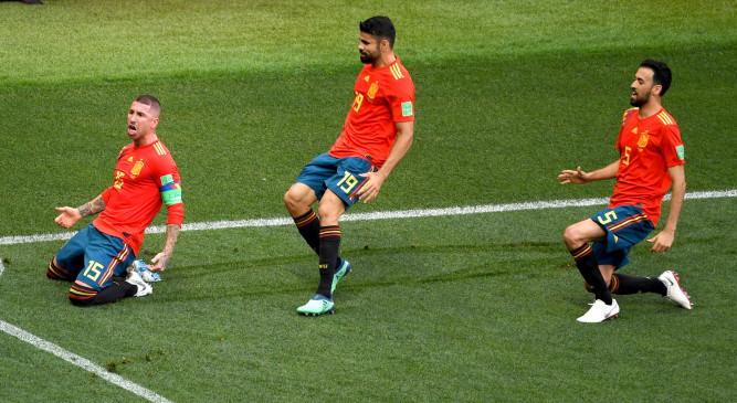 फुटबाल : इंजुरी टाइम में गोल कर स्पेन ने यूरो-2020 के लिए किया क्वालीफाई