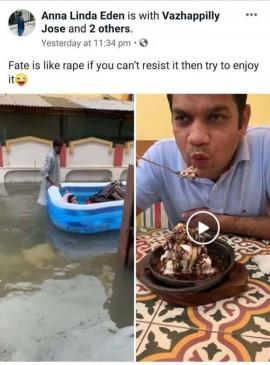 सांसद की पत्नी ने FB पोस्ट में लिखा- किस्मत रेप की तरह, रोक न पाओ तो मजा लो