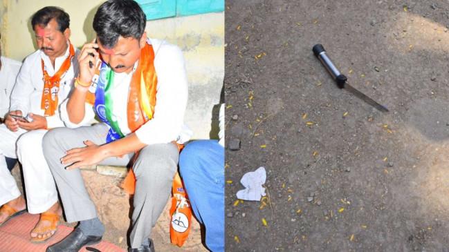 चुनावी रैली में शिवसेना सांसद निंबालकर पर चाकू से हमला, घायल
