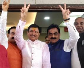 BJP के बागी विधायक नारायण त्रिपाठी की घर वापसी, कहा-कांग्रेस में नहीं गया हूं