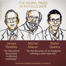 तीन वैज्ञानिकों को मिला भौतिकी का नोबेल, ब्रह्माण्ड विज्ञान के क्षेत्र में की थी महत्वपूर्ण खोज