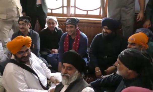 पाकिस्तान : बिलावल ने गुरुद्वारे में मनाई दिवाली