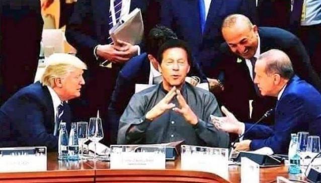 Fake News: डोनाल्ड ट्रंप-एर्दोआन जैसे नेताओं के बीच बैठे इमरान खान, फोटो वायरल ?