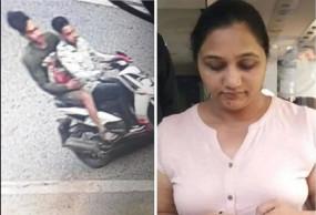 सीसीटीवी फुटेज में दिखे पीएम की भतीजी दमयंती मोदी का सामान लूटने वाले आरोपी