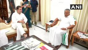 केरल के CM पिनरई विजयन से मिले राहुल गांधी, कई मुद्दों पर की चर्चा