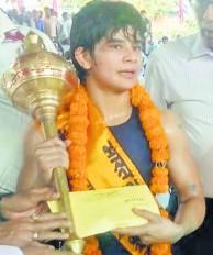 उमरेठ की शिवानी पवार ने जीता भारत कुमारी का अवार्ड, हरियाणा की मनीषा को हराया