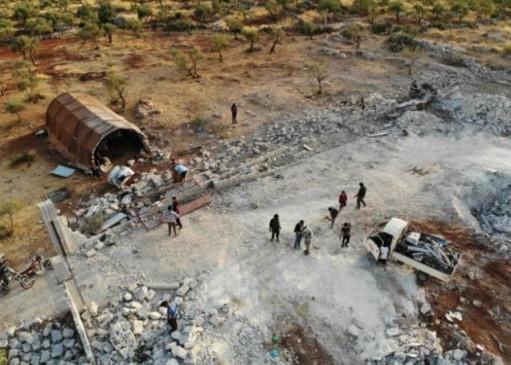 जिस जगह पर  मारा गया था अबू बक्र अल-बगदादी, वीडियो आया सामने