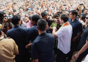 वायनाड: NH-766 पर युवाओं के विरोध प्रदर्शन में शामिल हुए राहुल गांधी