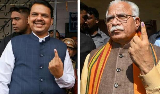 हरियाणा-महाराष्ट्र विधानसभा चुनाव परिणाम तय करेंगे खट्टर और फडणवीस का भविष्य