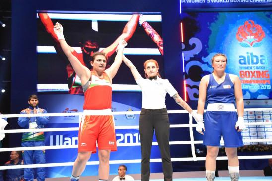 विश्व महिला मुक्केबाजी चैंपियनशिप : स्वीटी दूसरे दौर में, नीरज बाहर