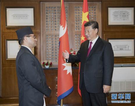 शी चिनफिंग की नेपाली संसद अध्यक्ष के साथ मुलाकात