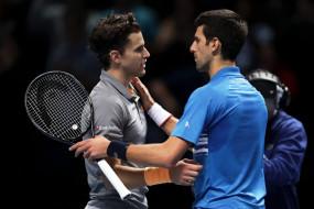 ATP world tour finals: फेडरर-नडाल के बाद जोकोविच भी टूर्नामेंट से बाहर, थीम ने दी मात