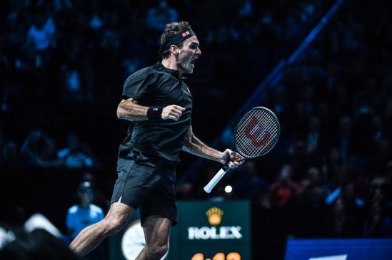 ATP world tour finals: फेडरर 16वीं बार टूर्नामेंट के सेमीफाइनल में, जोकोविच को 22वीं बार हराया