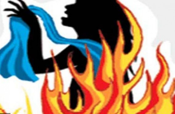घरेलूकलह में पत्नी को जिंदा जलाने का प्रयास , सास और साली से हाथापाई