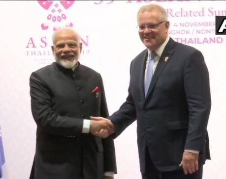 बैंकॉक: PM मोदी ने ऑस्ट्रेलियाई प्रधानमंत्री स्कॉट मॉरिसन से की मुलाकात