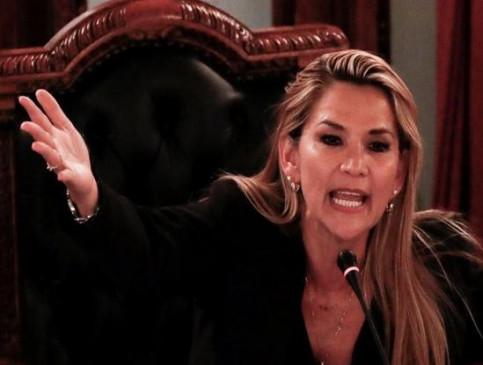 बोलीविया : सीनेटर जीनाइन एनेज ने खुद को घोषित किया राष्ट्रपति