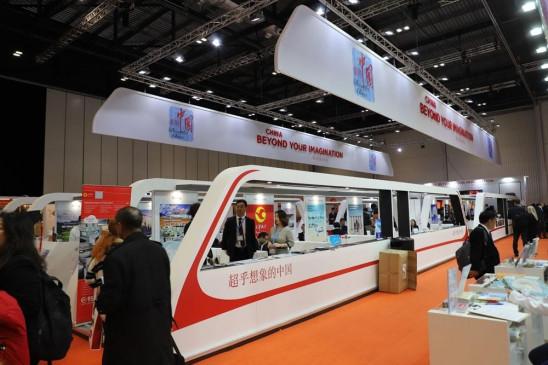 लंदन विश्व पर्यटन मेले में चीनी प्रदर्शनी क्षेत्र खुला