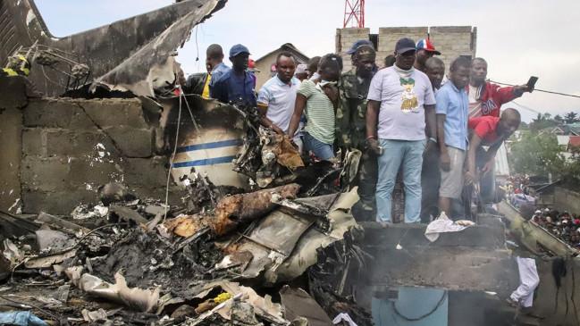 कांगो में टेकऑफ के बाद विमान दुर्घटनाग्रस्त, 25 से ज्यादा लोगों की मौत