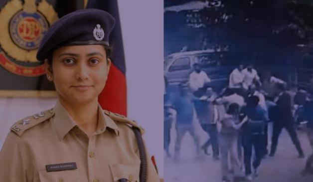 Video : हाथ जोड़कर अपील करती रही महिला डीसीपी, वकील मर्यादा भूल गए
