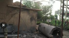 मिड डे मील के सेंंट्रल किचन में हुआ धमाका ,प्रेशर गैस चूल्हा ब्लास्ट