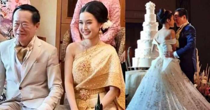 थाईलैंड में एक आदमी ने 70 की उम्र में 20 साल की लड़की से की पहली शादी