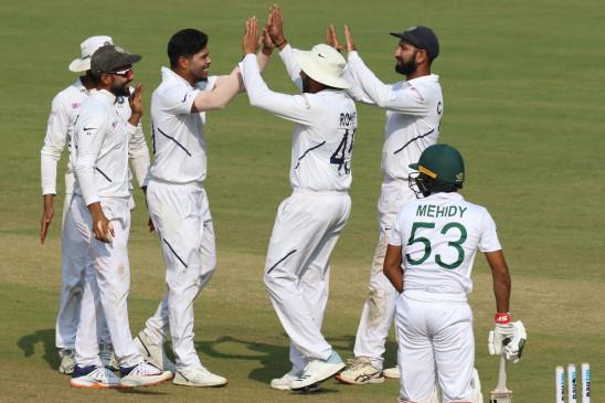 IND VS BAN 1st test : टीम इंडिया की लगातार छठवीं जीत, बांग्लादेश को पारी और 130 रन से हराया