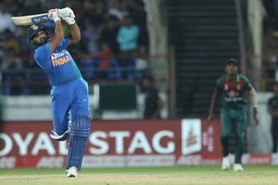IND VS BAN: रोहित ने कहा- छक्के मारने के लिए बड़े मसल्स की जरूरत नहीं