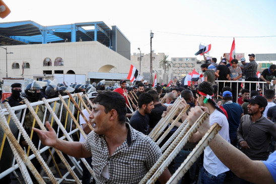 इराक : दक्षिणी प्रांत में विरोध प्रदर्शन में 2 मरे, 23 घायल