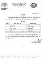 झारखंड विधानसभा चुनाव : लोजपा ने 5 उम्मीदवारों की दूसरी सूची जारी की