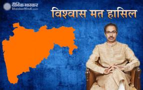 महाराष्ट्र में उद्धव सरकार ने हासिल किया विश्वास मत, मिले 169 वोट