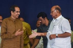 महाराष्ट्र विकास आघाडी ने चुन लिया अपना नेता, शरद पवार बोले - बाल ठाकरे के मार्ग पर उद्धव
