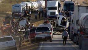 मेक्सिको: तीन बसों की टक्कर से बड़ा हादसा, 13 ज्यादा लोगों की मौके पर मौत