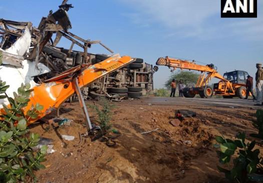 राजस्थान: बीकानेर में दर्दनाक सड़क हादसे में 10 यात्रियों की मौत, 20-25 घायल