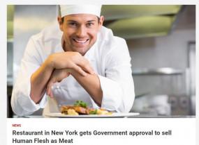 Fake News: क्या न्यूयॉर्क के रेस्टोरेंट में बेचा जा रहा है मानव मांस ?