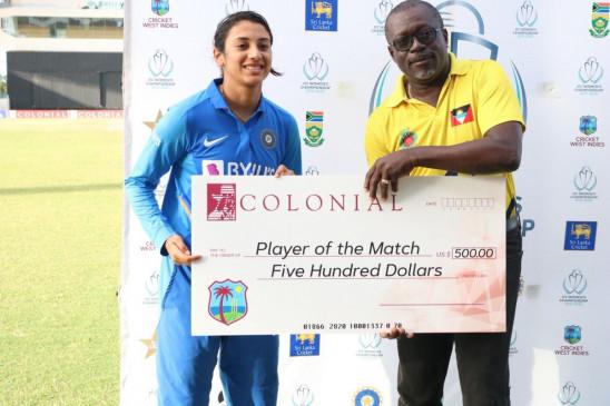 सबसे तेज 2 हजार वनडे रन बनाने वाली दूसरी भारतीय बनी मंधाना