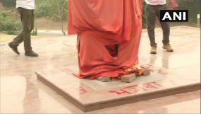स्वामी विवेकानंद की मूर्ति के साथ JNU में तोड़फोड़, भाजपा के लिए लिखा आपत्तिजनक संदेश